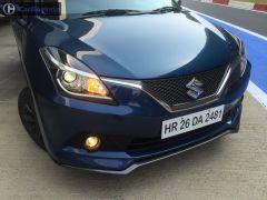 maruti baleno rs test drive review images front bumper