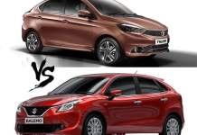 tata tigor vs maruti baleno comparison