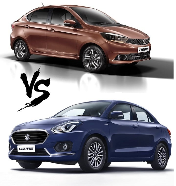 new 2017 maruti dzire vs tata tigor price specs mileage. Black Bedroom Furniture Sets. Home Design Ideas