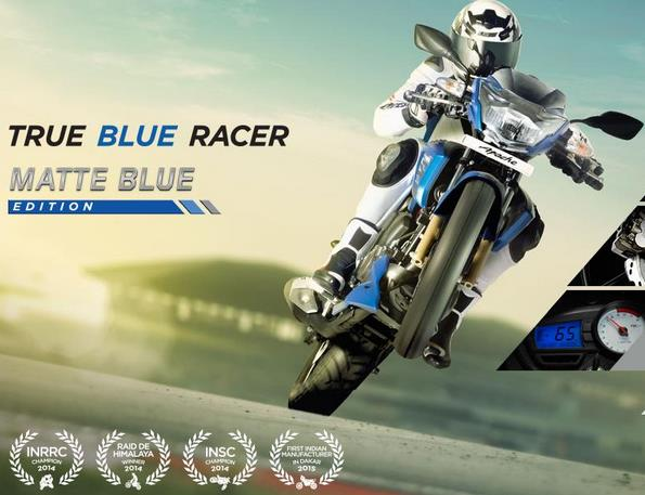 2017 TVS Apache RTR 180 Images matt blue-colour