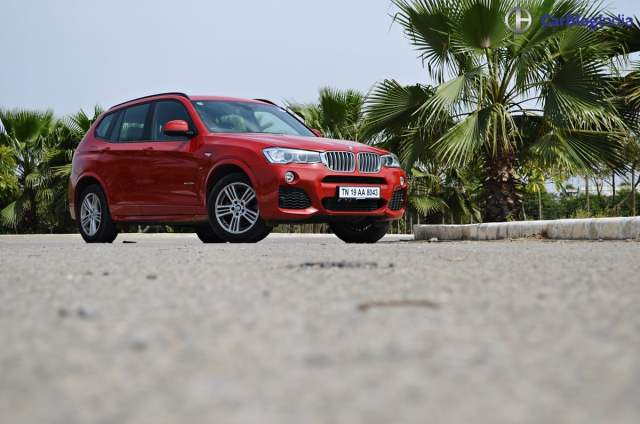 bmw x3 m sport test drive review front angle