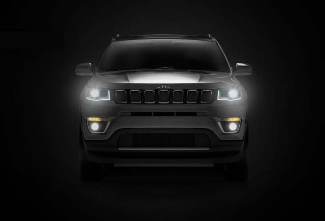 jeep compass india teaser image front