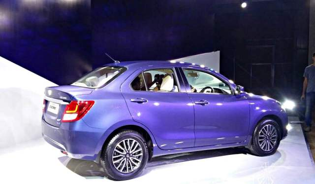 new 2017 maruti dzire review - images side profile