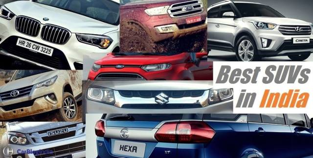 best suv in india 2017