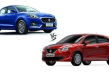 new 2017 maruti dzire vs baleno comparison
