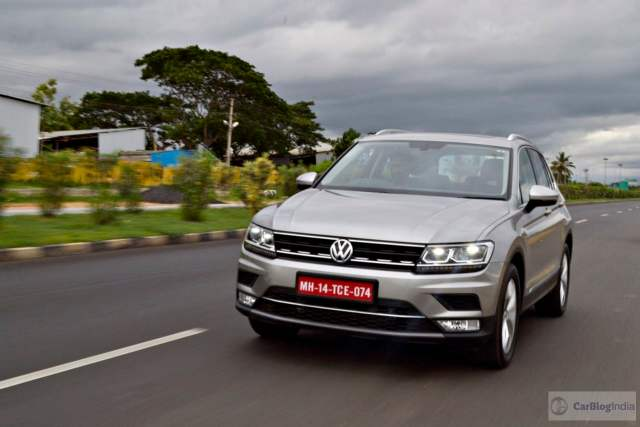 volkswagen tiguan test drive review images action front angle