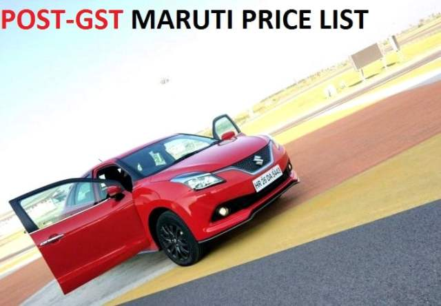 Car price list after gst in india
