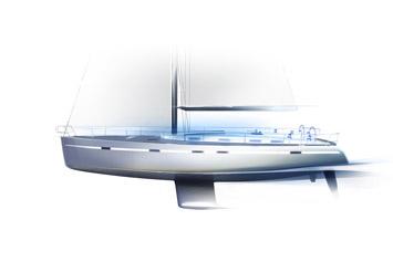 Bavaria Cruiser 55 Design Sketch