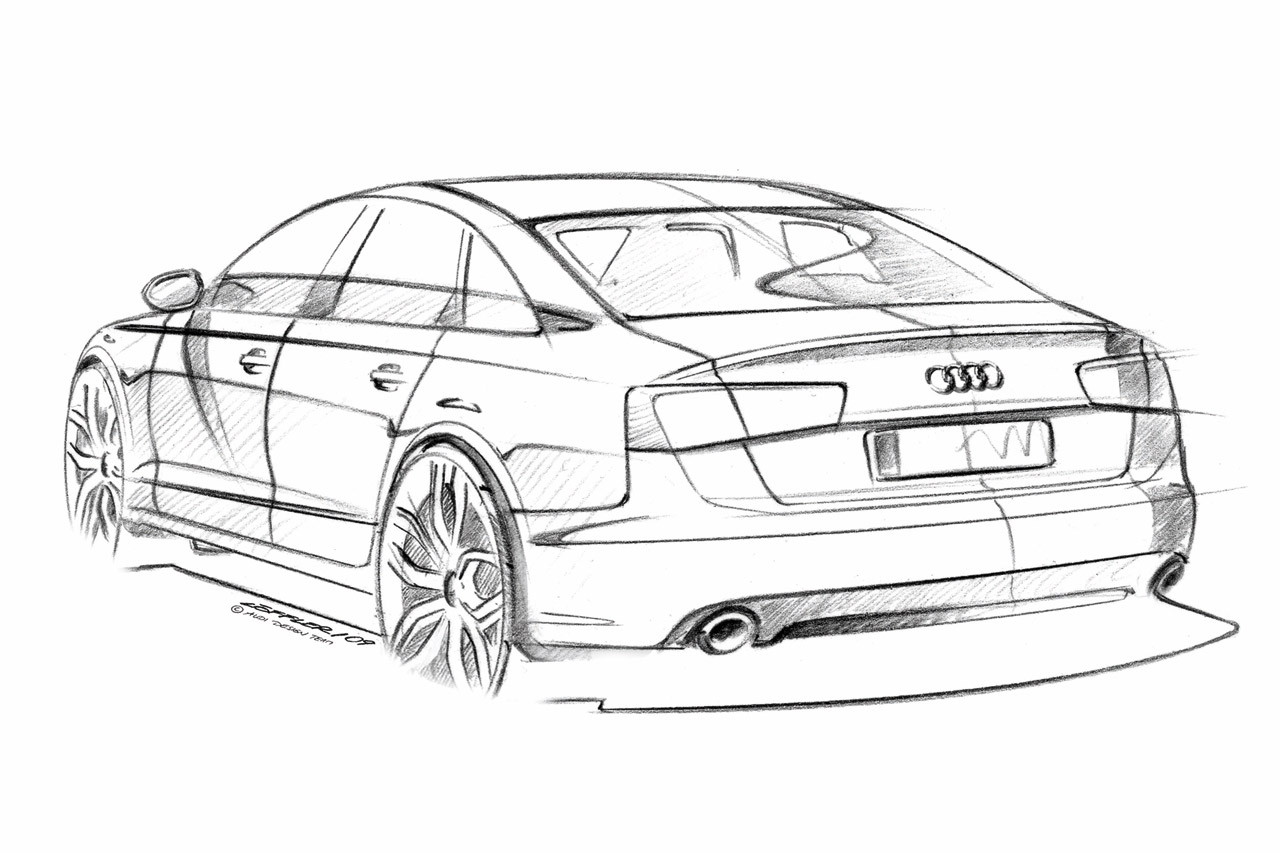 Audi A6 Design Sketch