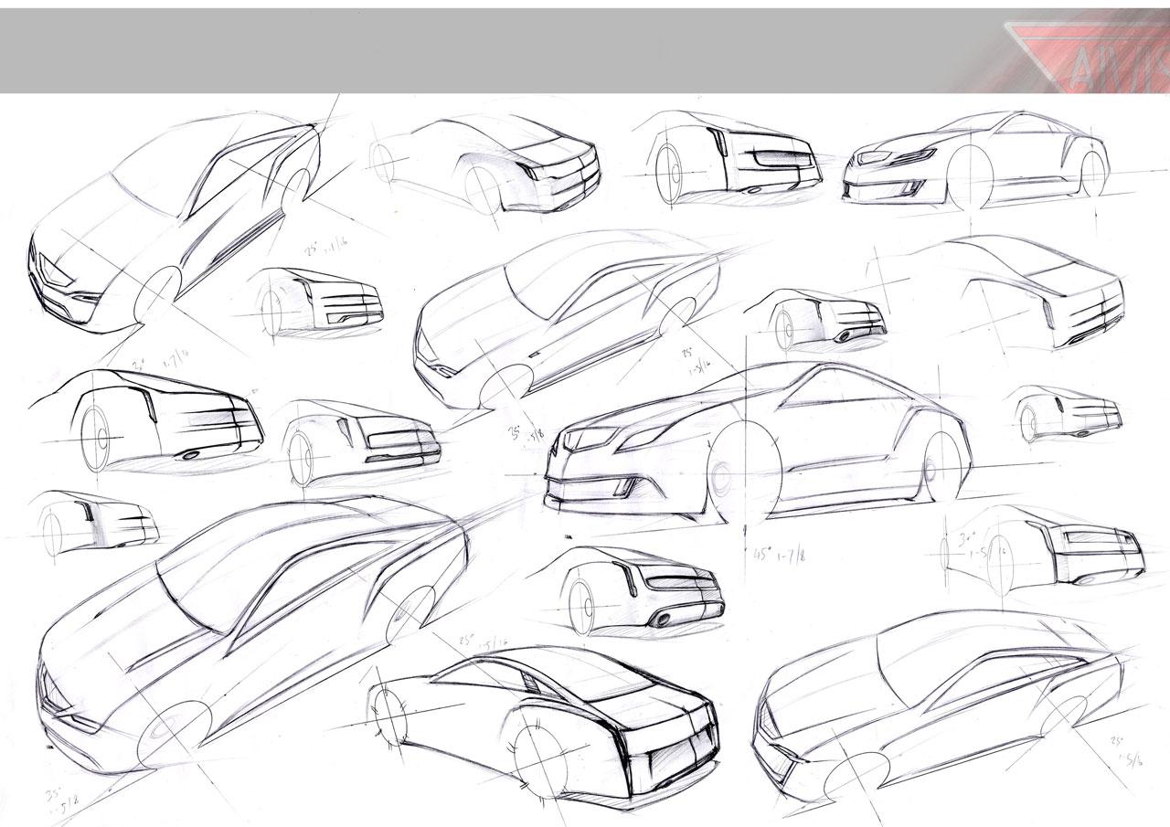 Concept Car Sketches