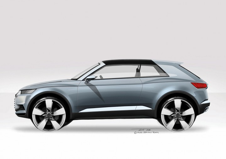 Audi Crosslane Coup 233 Concept Design Sketches Car Body