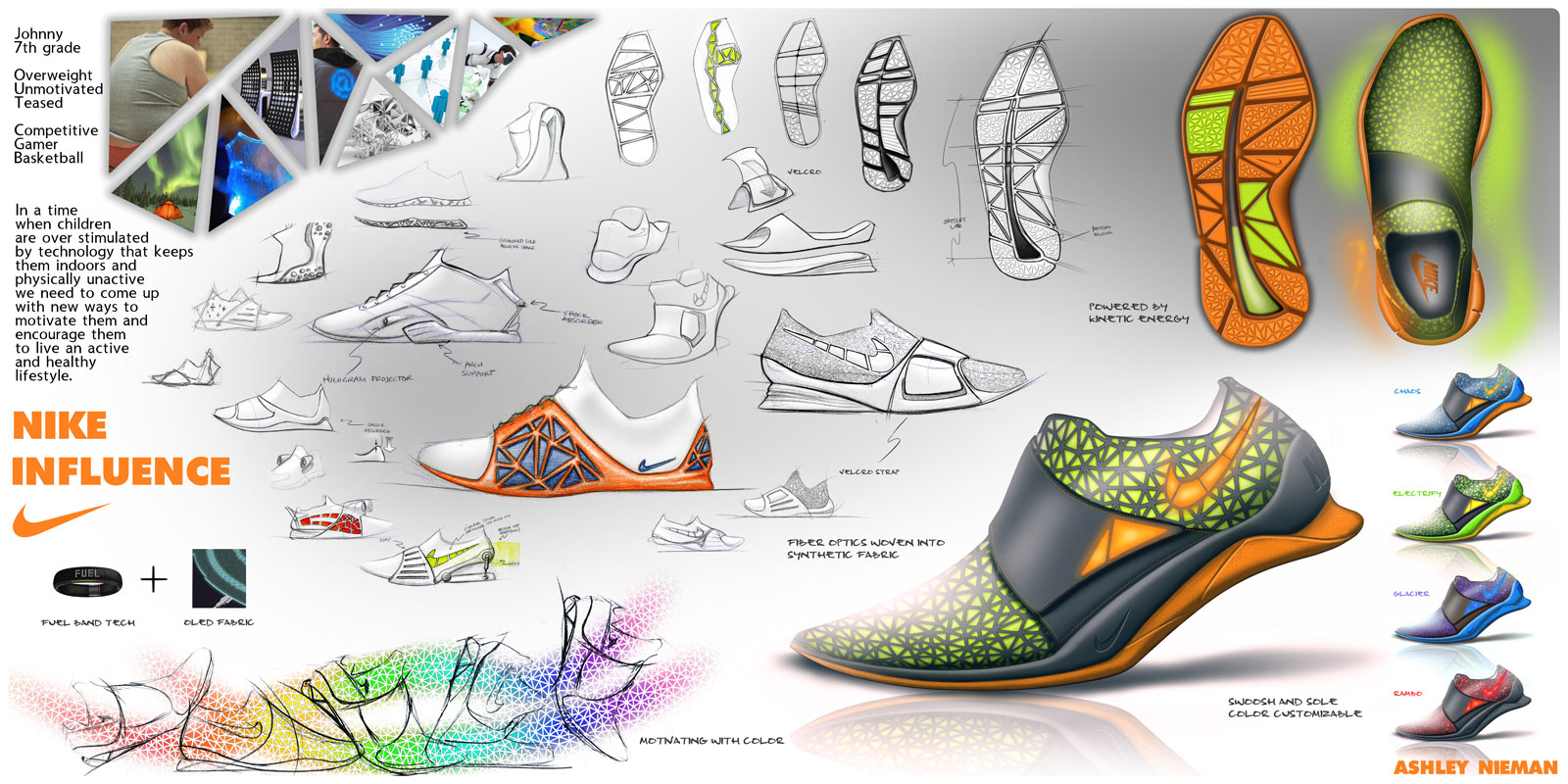 Nike Influence Shoe Concept Car Body Design