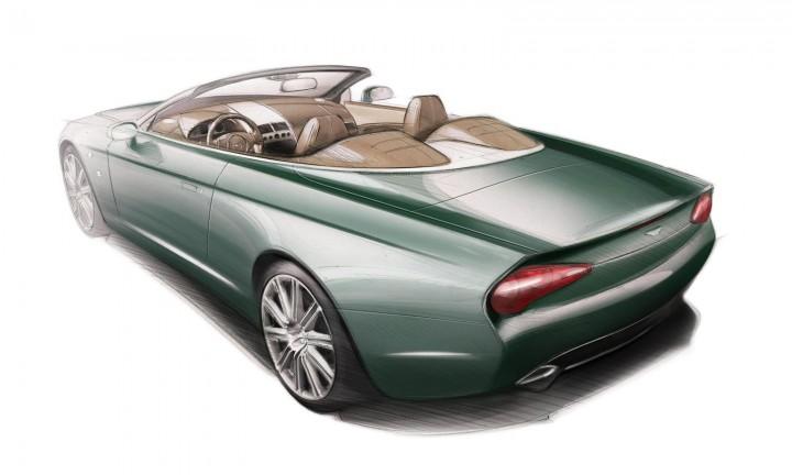 Zagato Aston Martin DB9 Spyder Centennial - Design Sketch