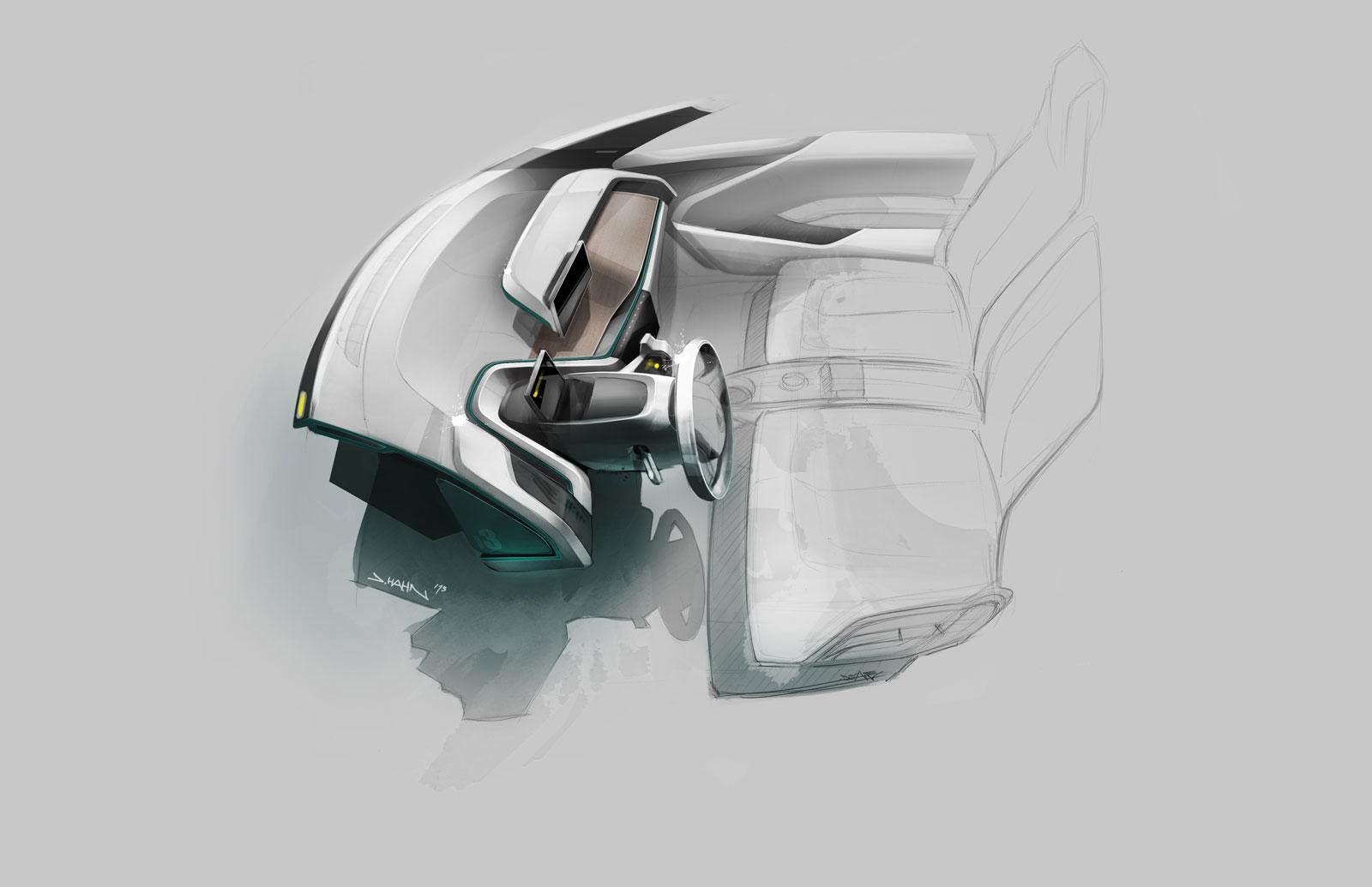 BMW I3 Interior Design Sketch Car Body Design