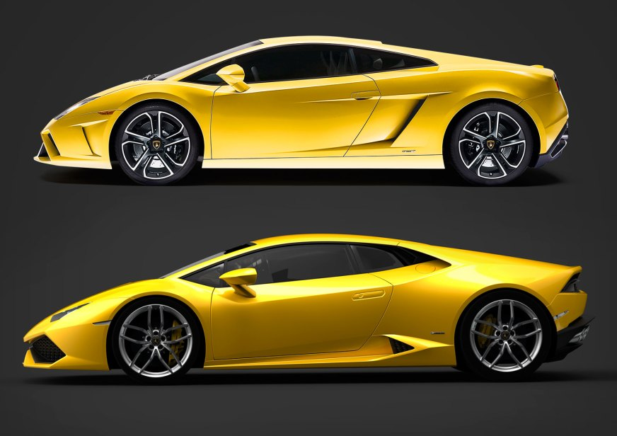 Lamborghini Gallardo and Huracan design comparison - Car ...
