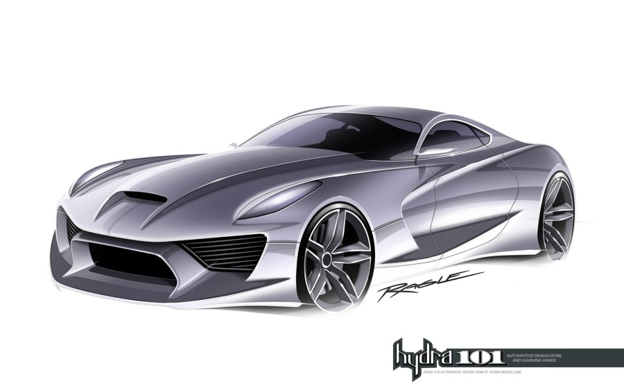 Supercar design sketch by Gary Ragle   Car Body Design Supercar design sketch by Gary Ragle