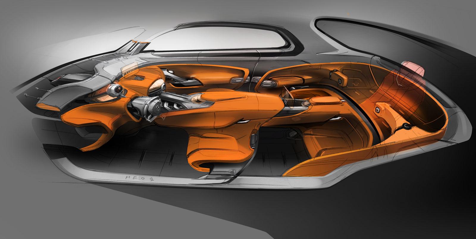 Hyundai Intrado Concept Interior Design Sketch Car Body Design
