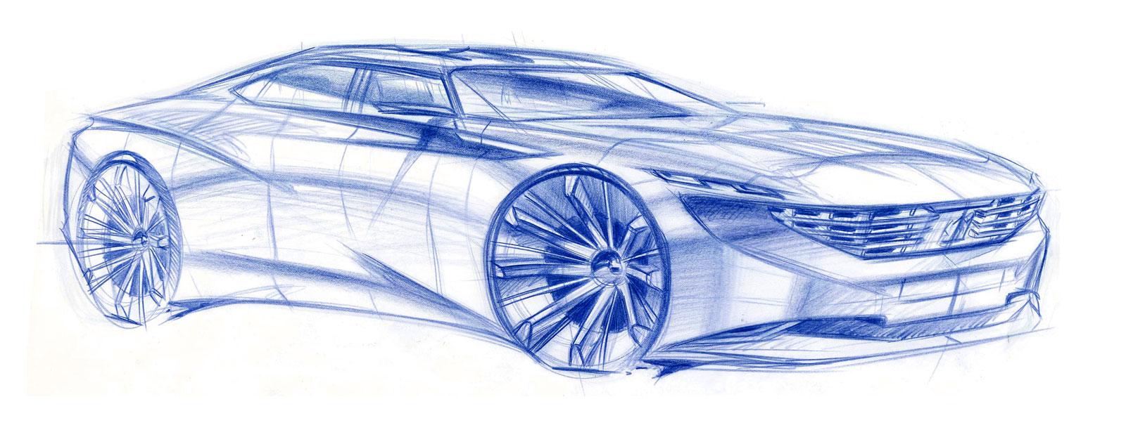 Peugeot Exalt Design Sketch Car Body Design