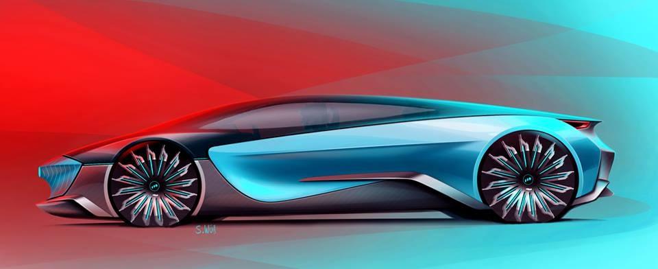 Supercar Concept Design Sketch By Scott Weibnicht Car