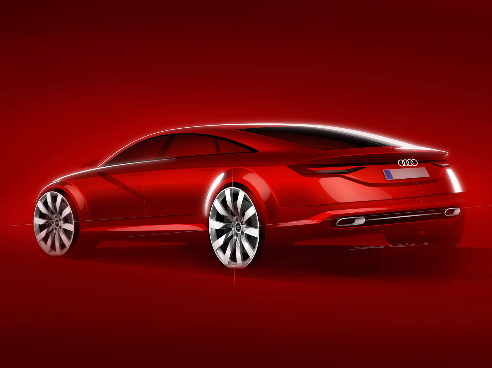 Audi Tt Sportback Concept Design Sketch Car Body Design