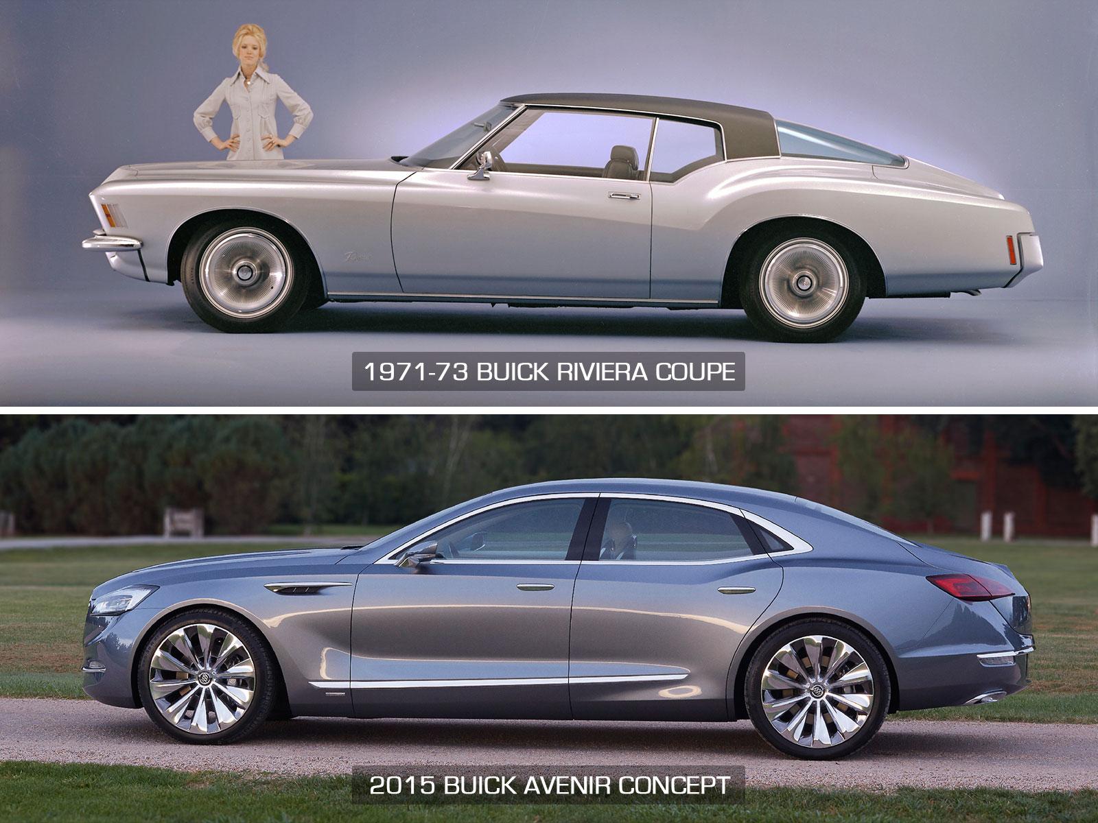 1971 Buick Riviera Coupe And 2015 Avenir Concept Profile