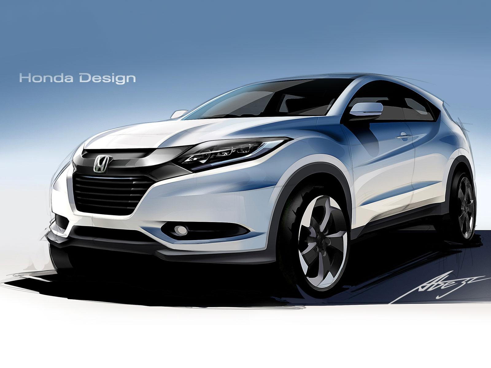 Honda Hr V Design Sketch Render Car Body Design