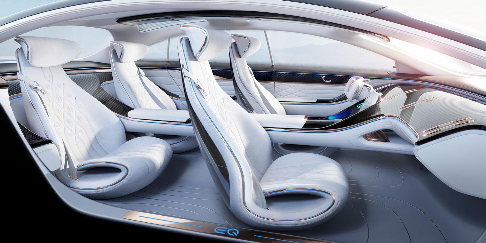 Mercedes Benz Vision Eqs Concept Interior Design Car