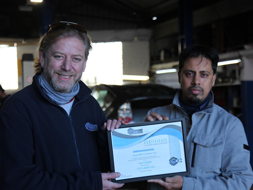 carbon clean centre manor park certificate