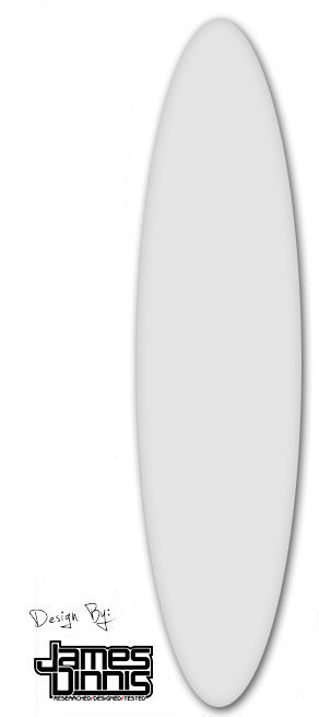 a blank custom windsurf board