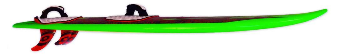 photo of ahu waveboard rocker line and fins