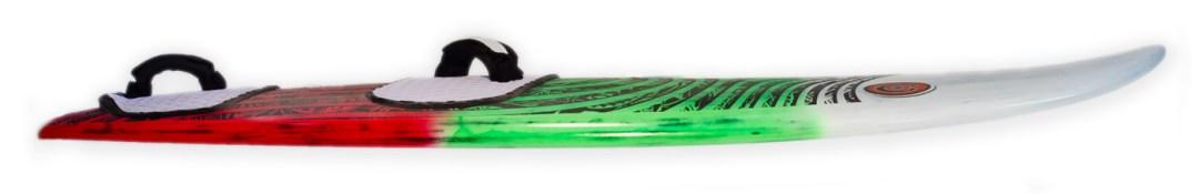 photo of kina waveboard rocker line and fins