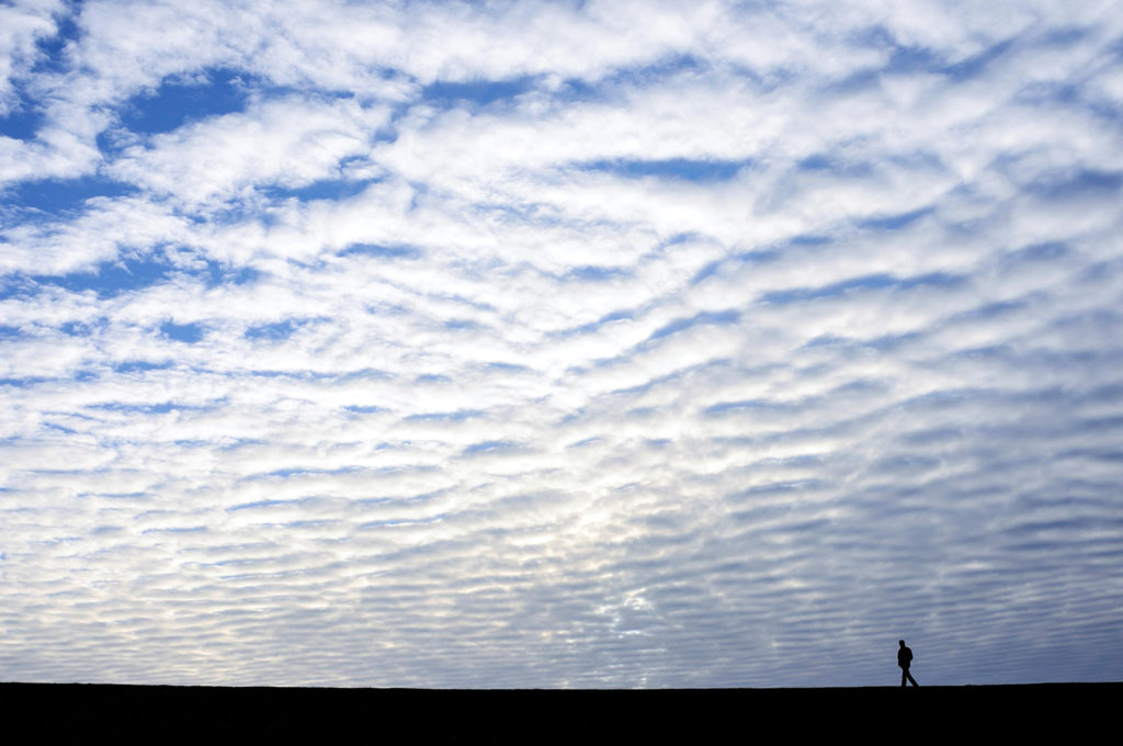 Stratocumulus cloud formation, Lower Saxony, Germany. Credit: imageBROKER / Alamy Stock Photo. H2B4BW