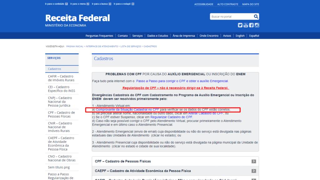 comprovante da situação cadastral do CPF - Carbonera & Tomazini Advogados
