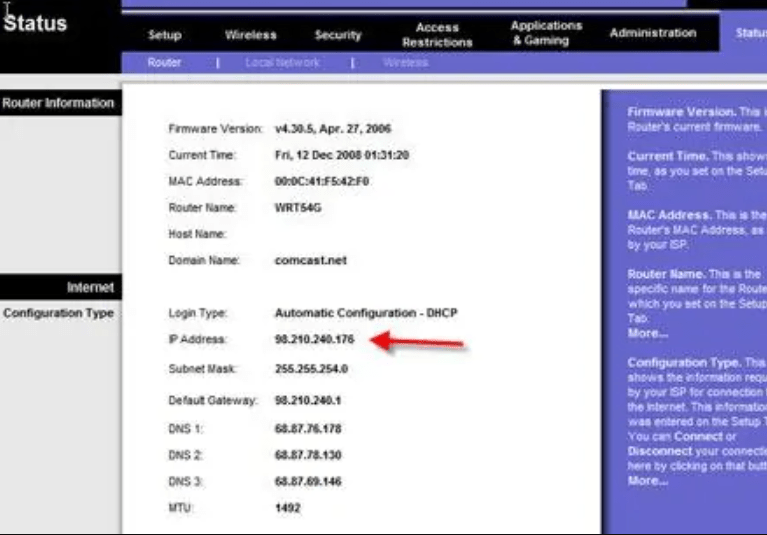 cara melihat ip address pc