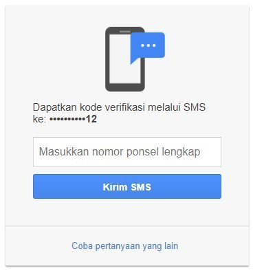 lupa password gmail di android