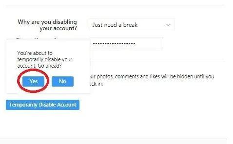 cara menghapus akun instagram android