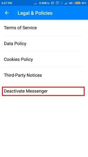 cara menonaktifkan inbox fb