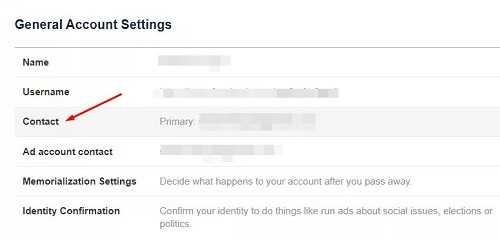cara mengganti email facebook yang menggunakan nomor telepon