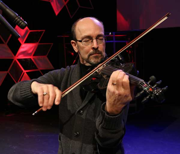 Gary Wahl, violinist withthe Cambridge Symphony Orchestra helped to fine tune the placement of the Schatten VMM pick-up and is the 2nd proud owner of the Gayford Carbon Strad violin
