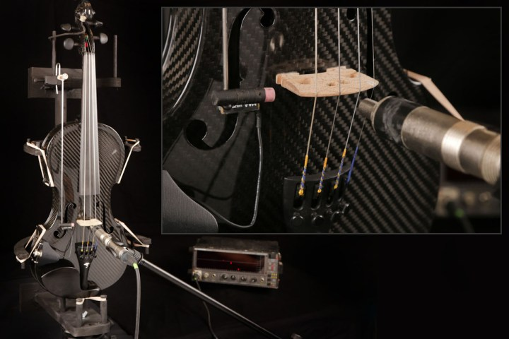 Measuring the frequency of our carbon fiber violin