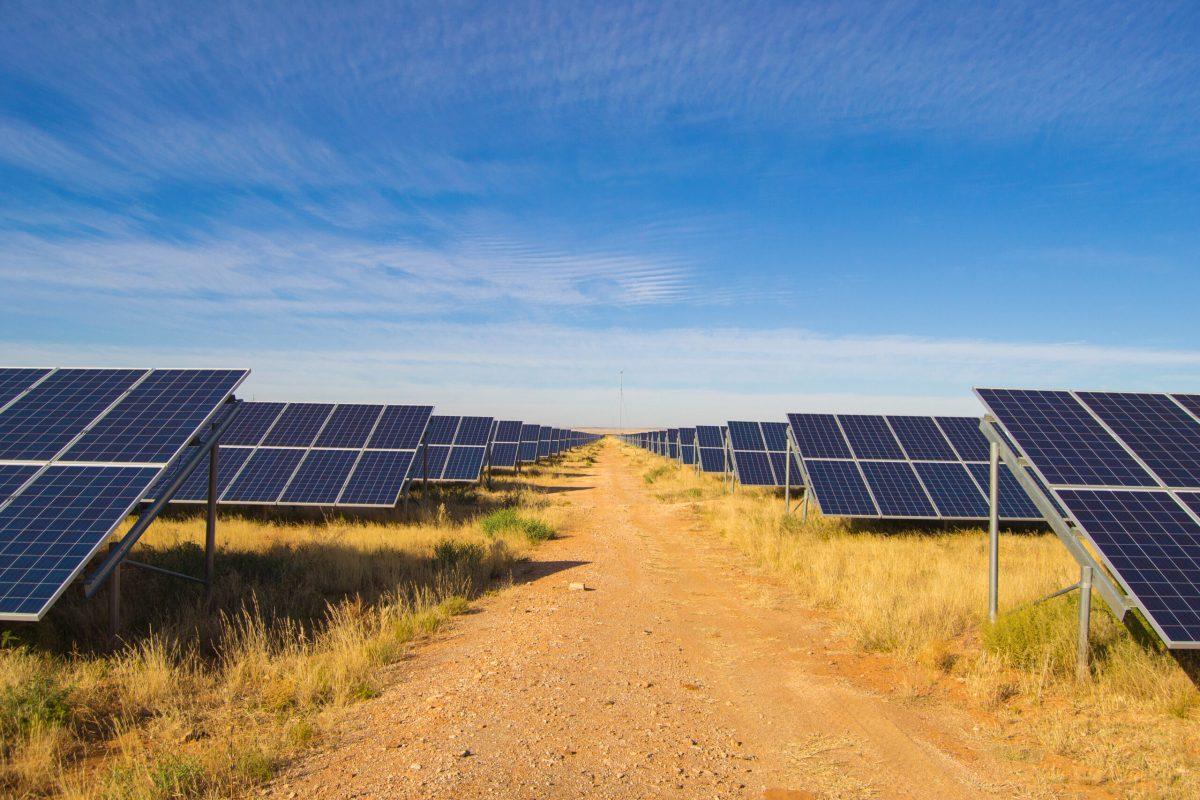 Solar panel row's