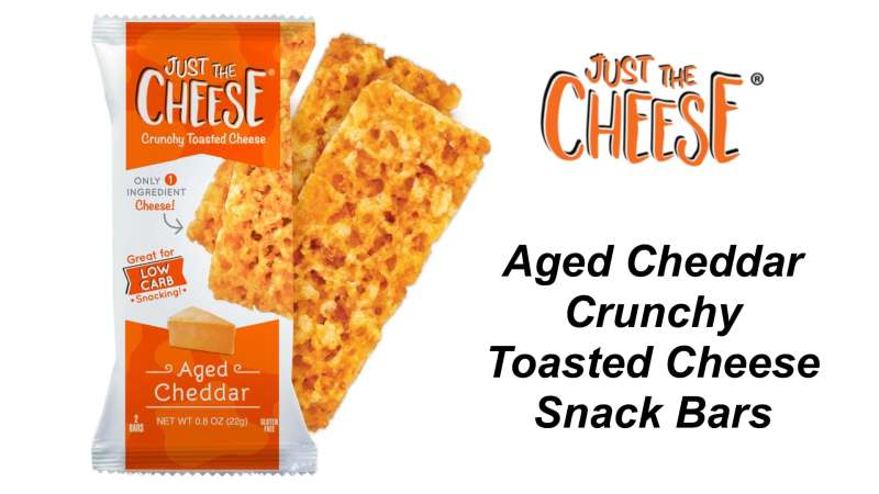 Just the Cheese Aged Cheddar Bars-Packages-With-Bars-Aged-Cheddar Snack Bars