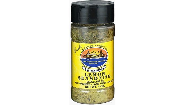 Carl's Gourmet All Natural Lemon Seasoning and Meat Rubs 4 oz.