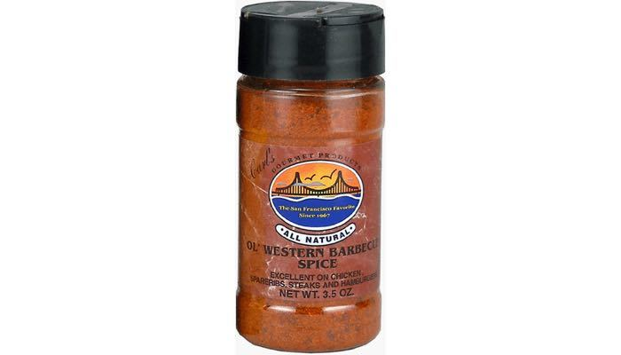 Carl's Gourmet All Natural Old Western Barbecue Spice and Meat Rubs 4 oz.