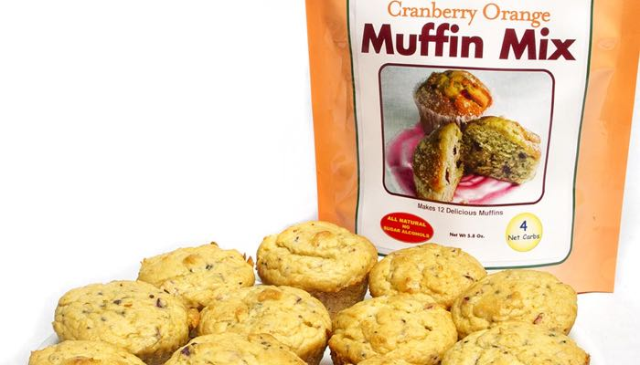 Cranberry Orange Low Carb Muffin Mix by Dixie Carb Counters