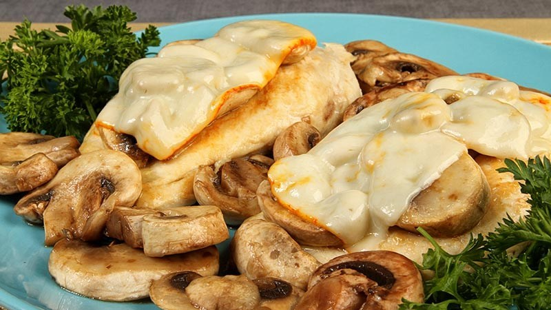 Low-Carb Gluten-Free Chicken Mushroom Melt Recipe