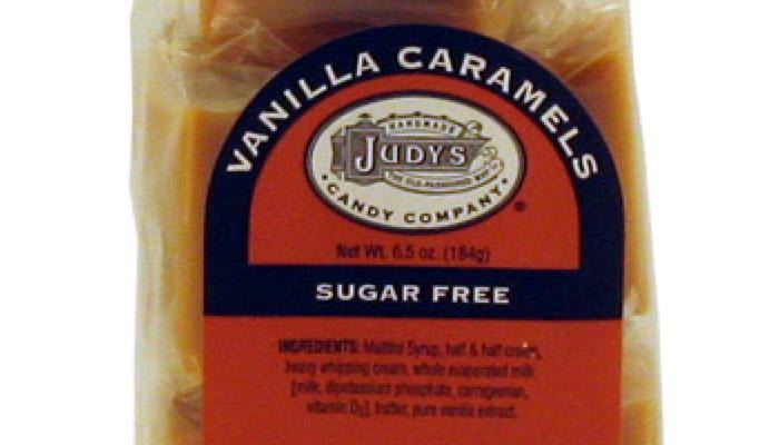 Vanilla Caramels 6.5 oz. package by Judy's Candy Co.
