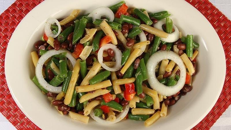 Low-Carb Gluten-Free Marinated Three Bean Salad