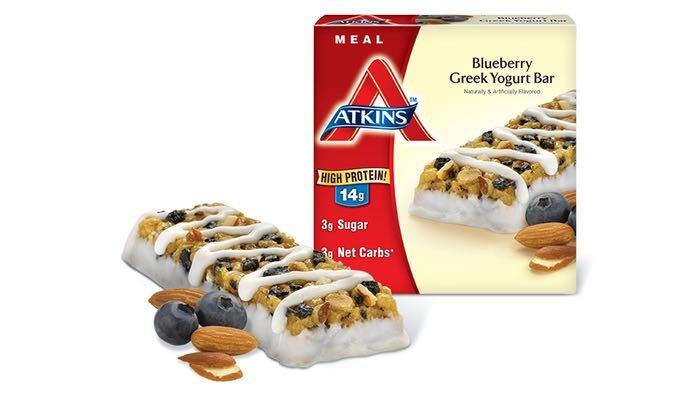 Atkins Advantage Meal Bars Blueberry Greek Yogurt