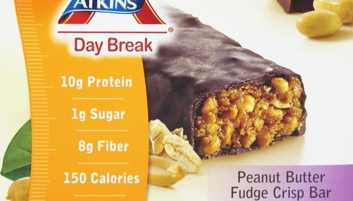 Peanut Butter Fudge Crisp Atkins Day Break Bars (Box of 5 Bars)
